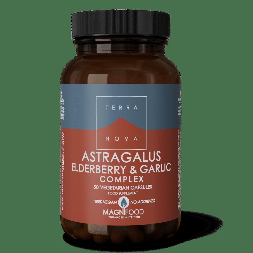Suplemento Astragalus, Elderberry & Garlic Complex