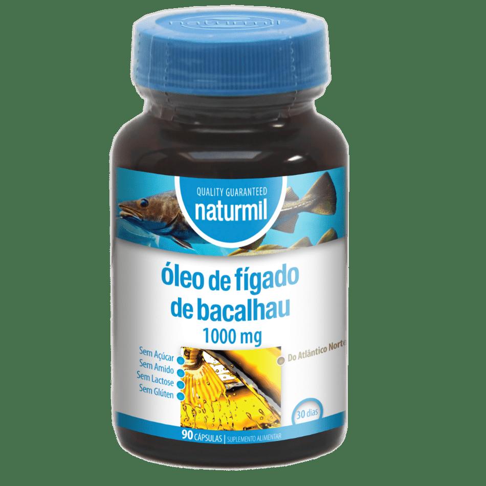 Suplemento Naturmil Óleo de fígado de bacalhau 1000mg