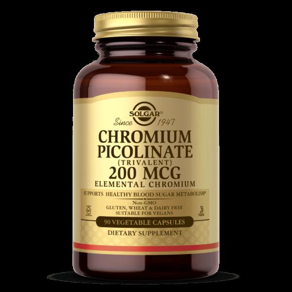 Suplemento CHROMIUM PICOLINATE 200 MCG VEGETABLE CAPSULES