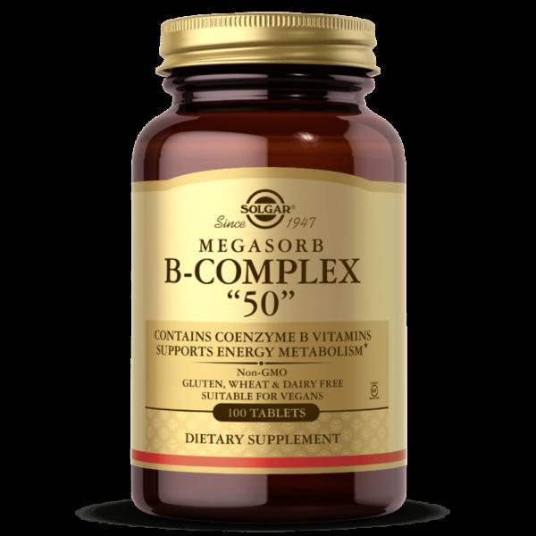 MEGASORB Vitaminas do Complexo B suplemento Solgar