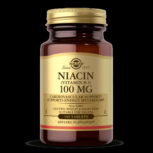 NIACIN (VITAMIN B3) 100 MG suplemento solgar