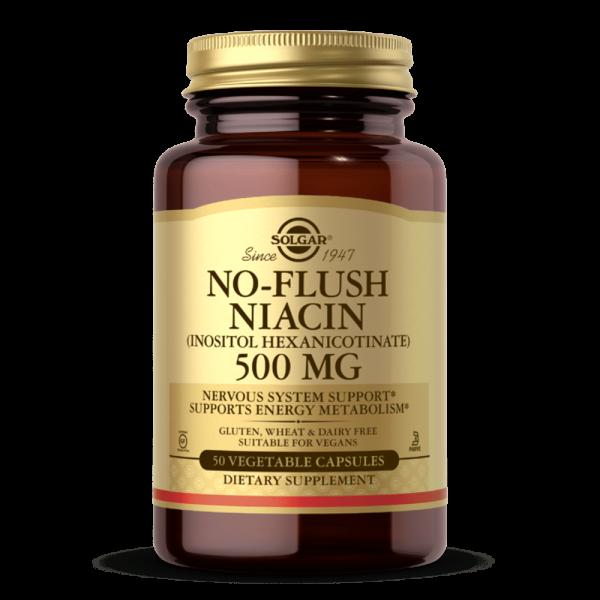 NO-FLUSH NIACINA 500MG VITAMIN B3 suplemento solgar