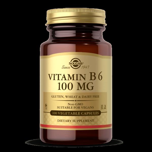 VITAMINA B6 100 MG suplemento solgar