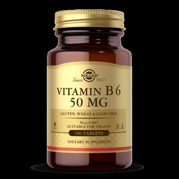 VITAMINA B6 50 MG suplemento solgar