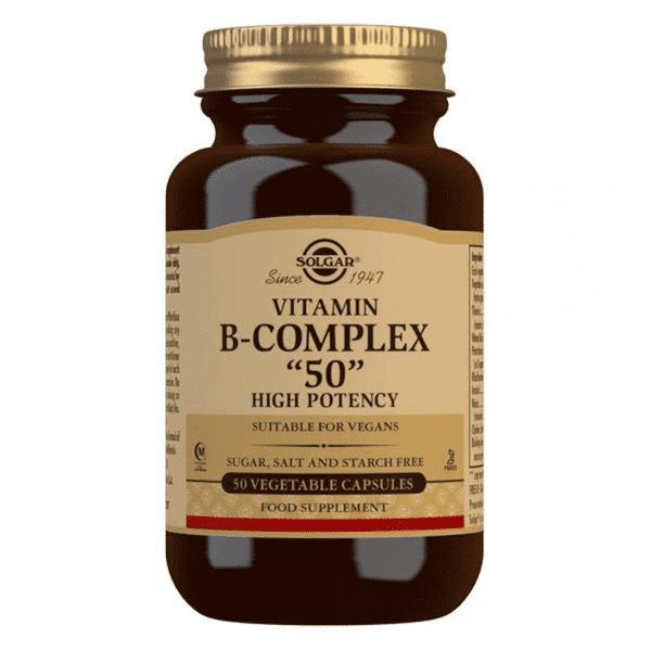 Vitaminas-Complexo-B-50 suplemento solgar