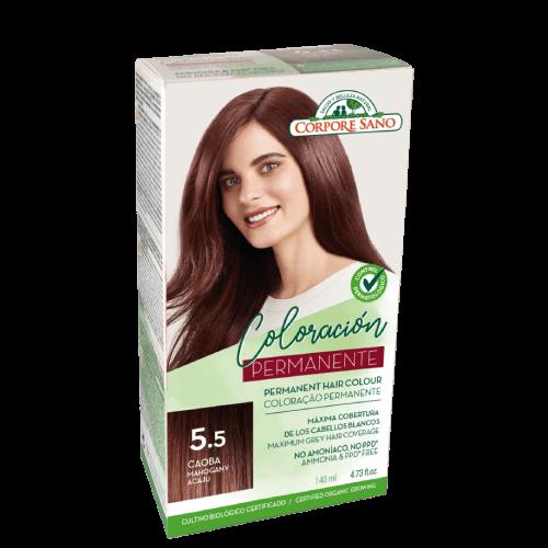 tinta cabelo permanete 5.5 acaju corpore sano