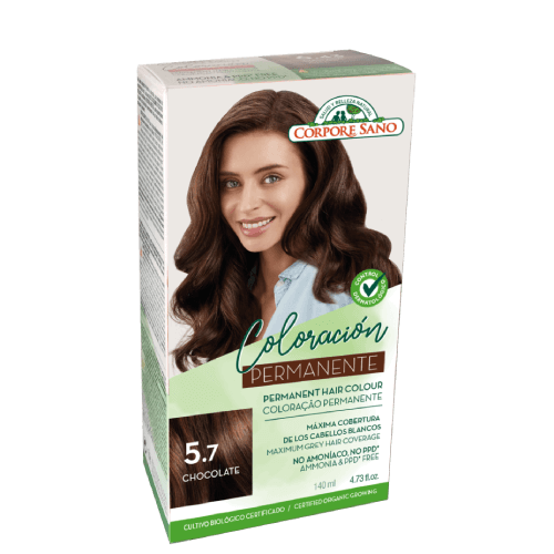 tinta cabelo permanete 5.7 chocolate corpore sano
