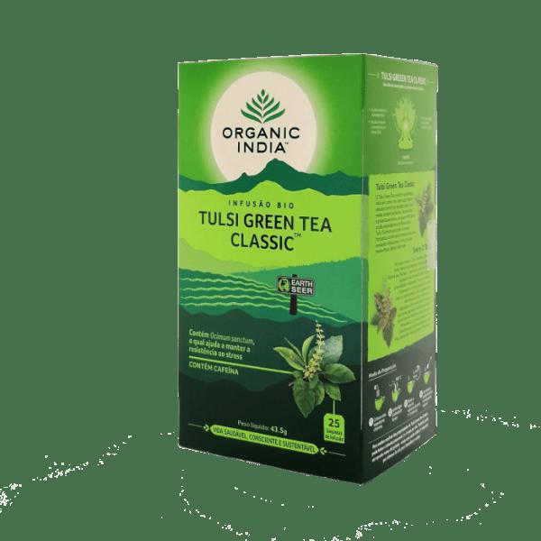 tulsi green tea 25saq organic india