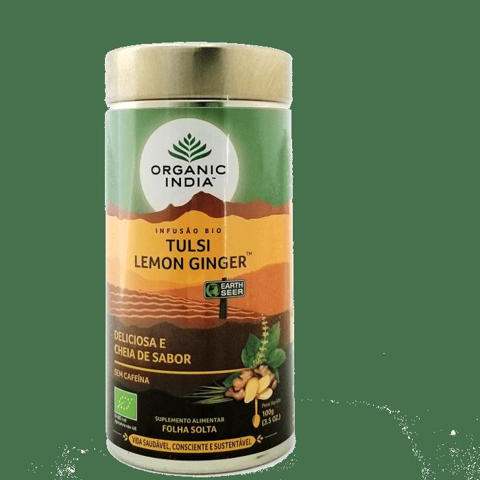 tulsi lemon ginger 100g organic india