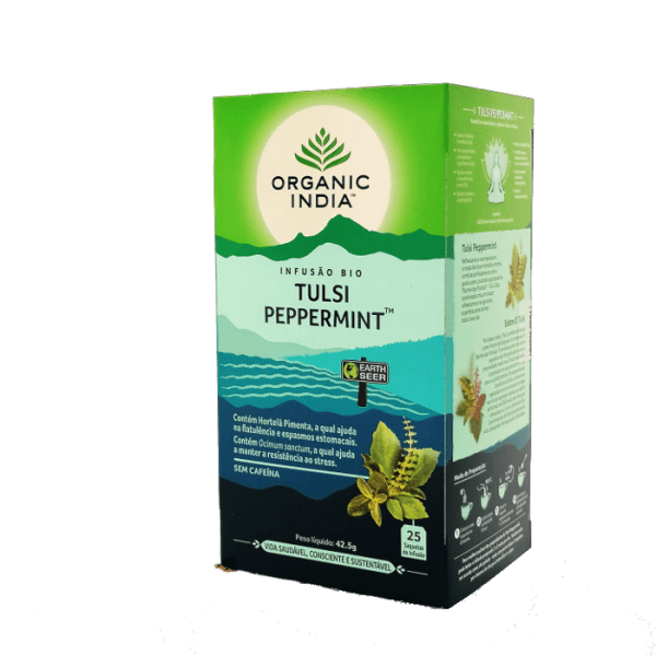 tulsi peppermint 25saq organic india
