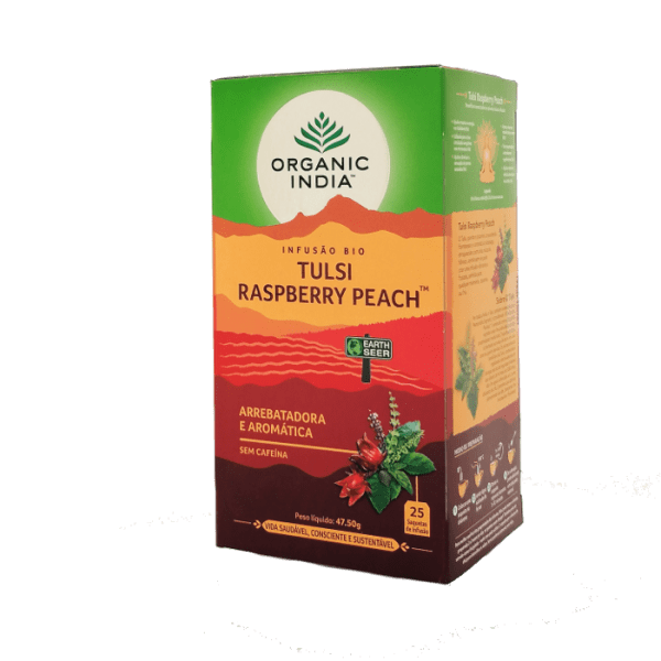 tulsi raspberry peach 25saq organic india