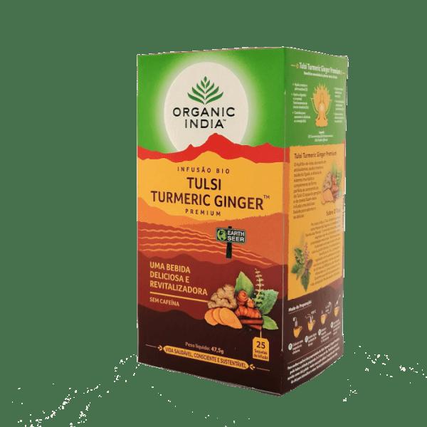 tulsi turmeric ginger 25saq organic india