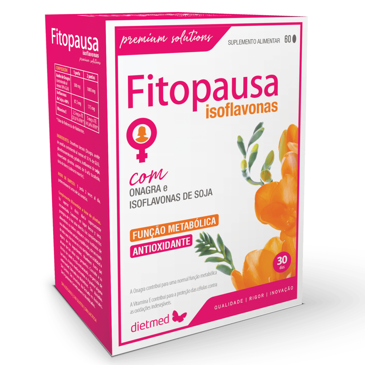 Fitopausa isoflavonas 60comp dietmed