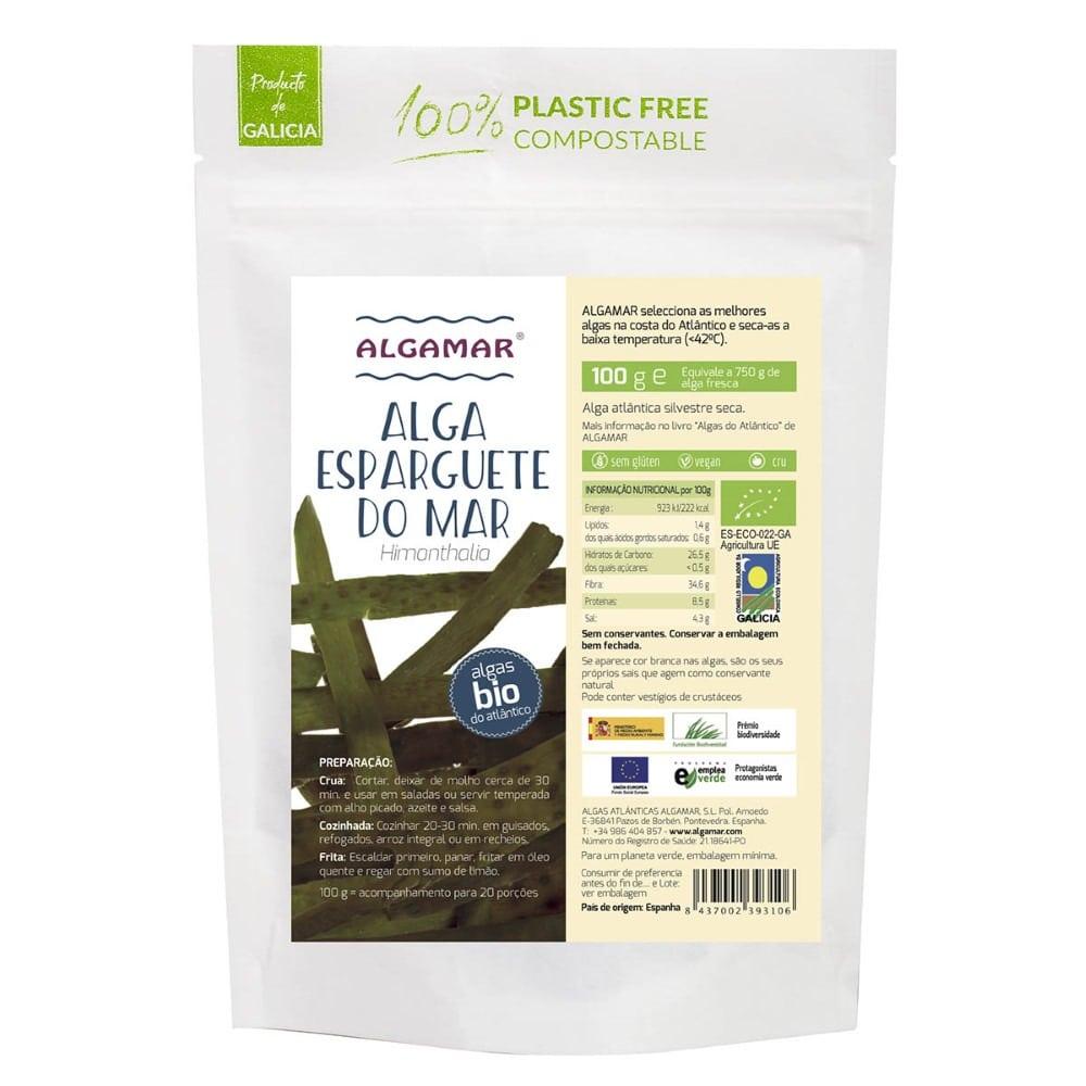 alga esparguete do mar bio 100g algamar