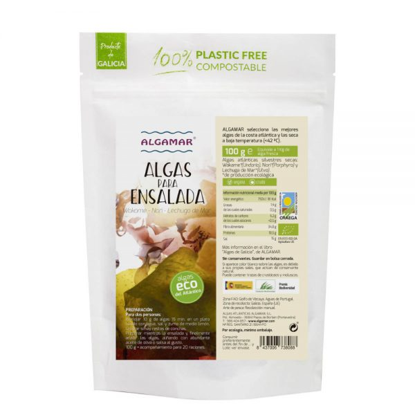 alga para saladas bio 100g algamar