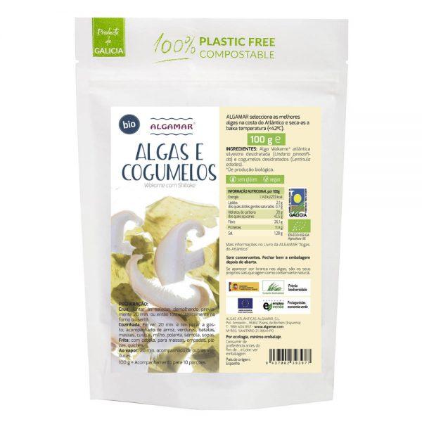 alga wakame com shiitake bio 100g algamar
