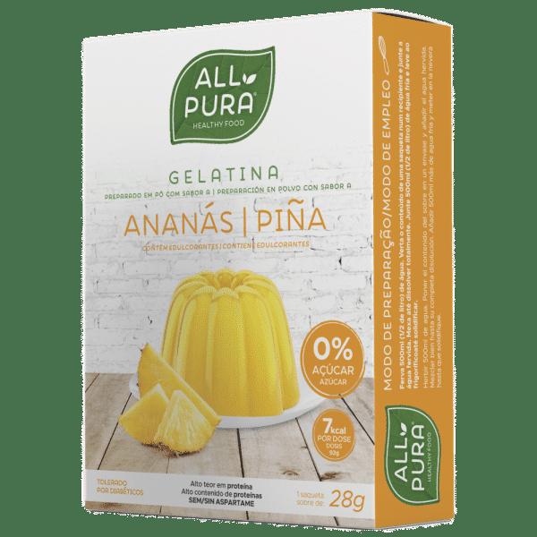 gelatina ananas 28g allpura