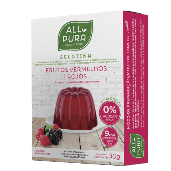 gelatina frutos vermelhos 30g allpura