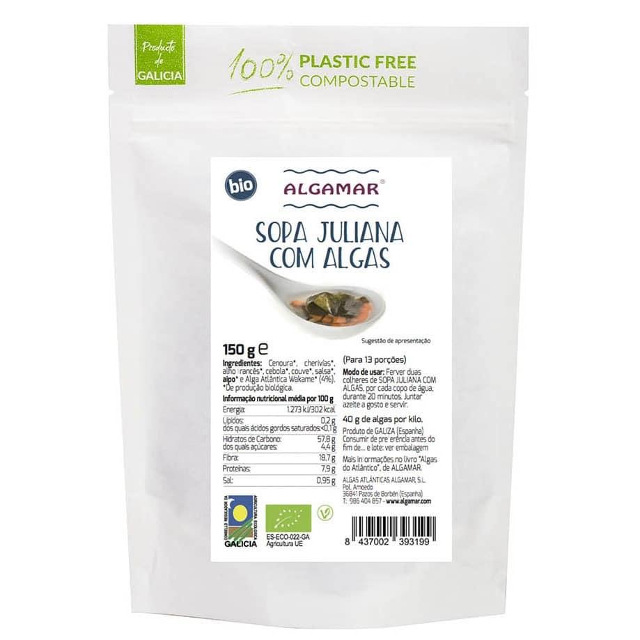 sopa juliana com algas bio 150g algamar