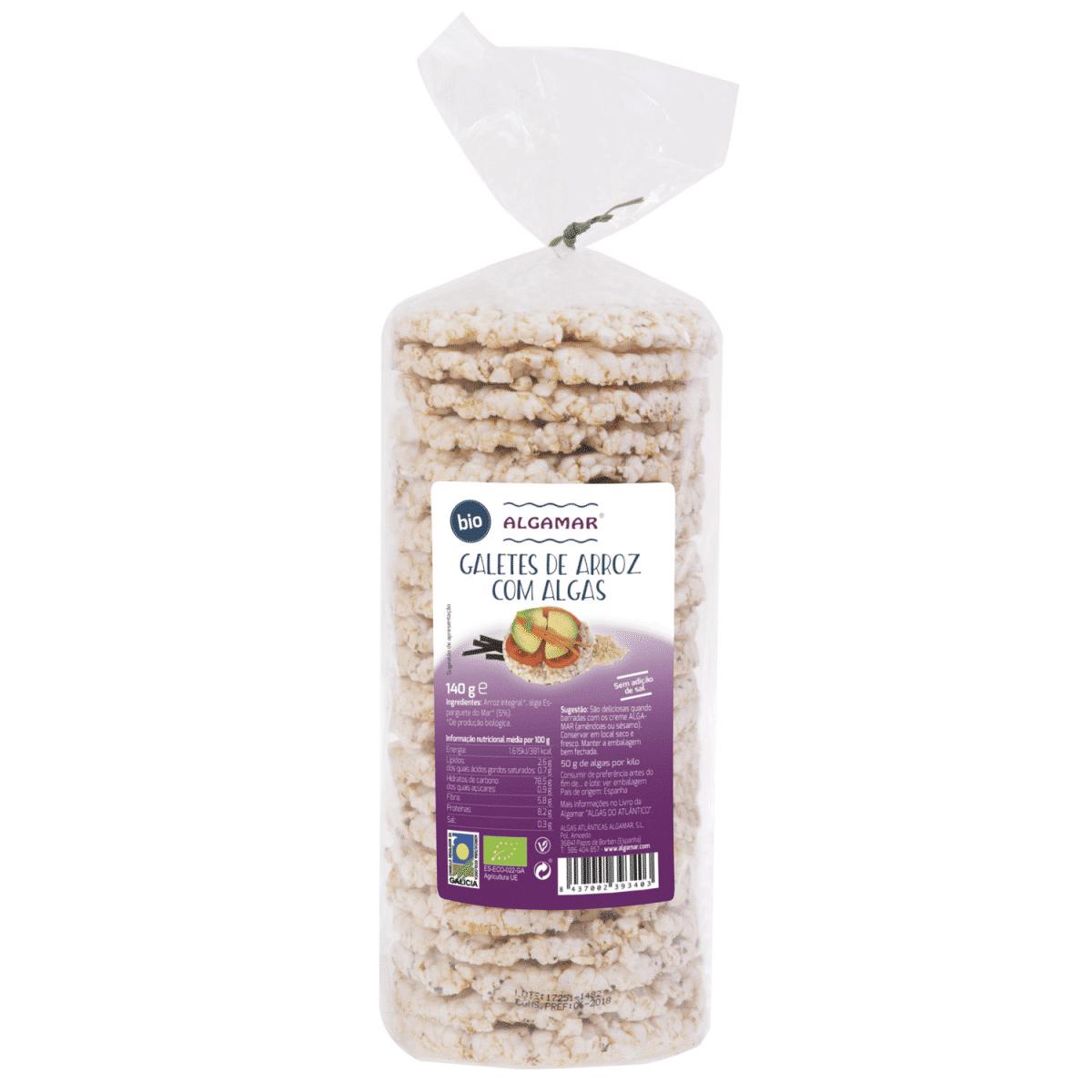 galetes de arroz com algas algamar