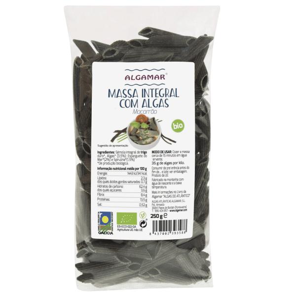 massa integral com algas macarrao algamar