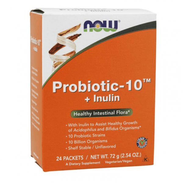 probiotic - 10 + Inulin now